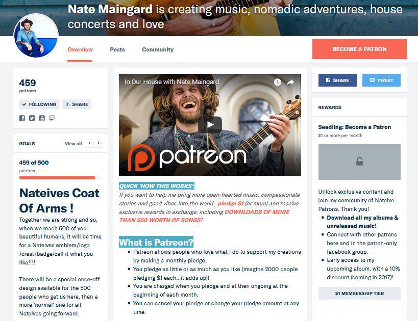 Nate Maingard's Patreon Page