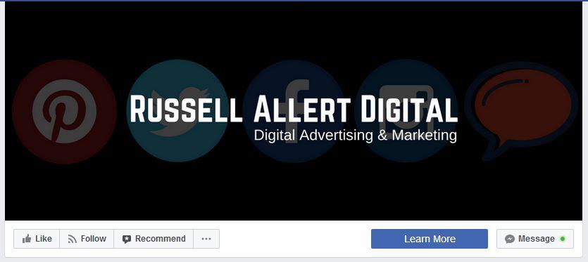 Facebook Page Header Button
