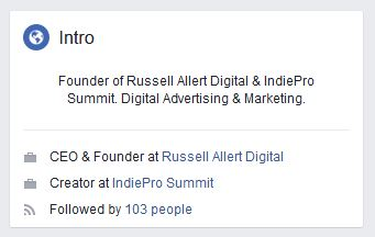 Public Facebook Profile Information